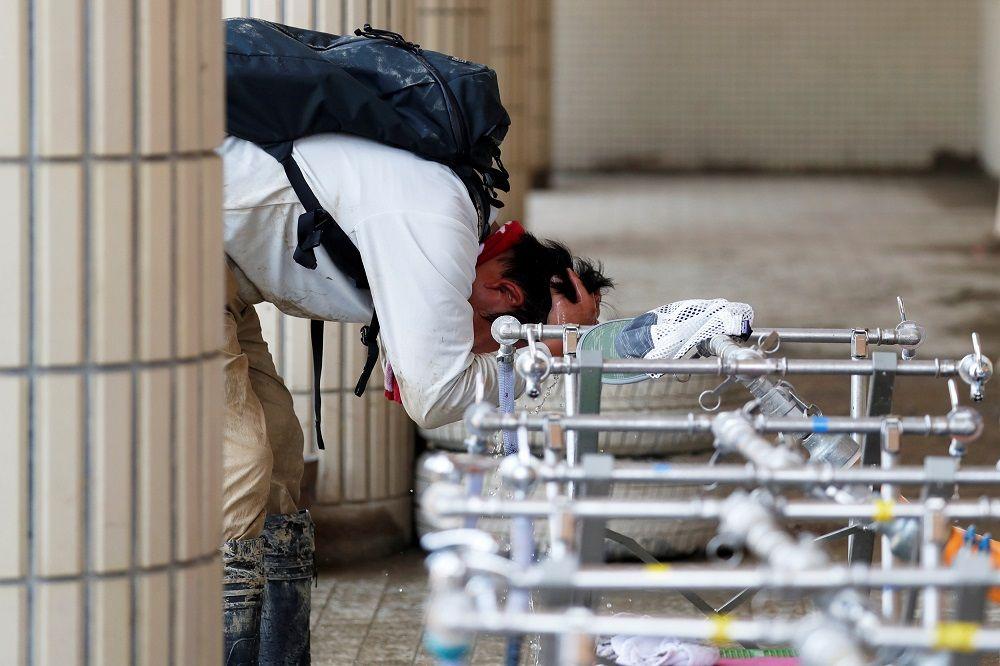 日本熱浪至少6人喪命 豪雨災區救援難上加難