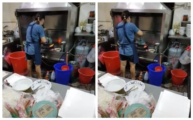 羊肉店爆尼龍燙米粉