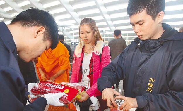 防堵非洲猪瘟 9日凌晨0时起泰国飞台旅客手提行李全面检疫